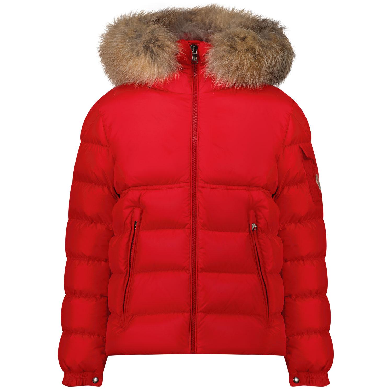 Afbeelding van Moncler 1A58622 kinderjas rood