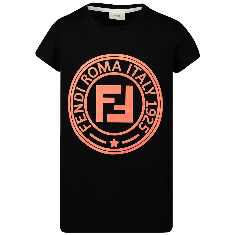Afbeelding van Fendi JFI164 kinder t-shirt zwart