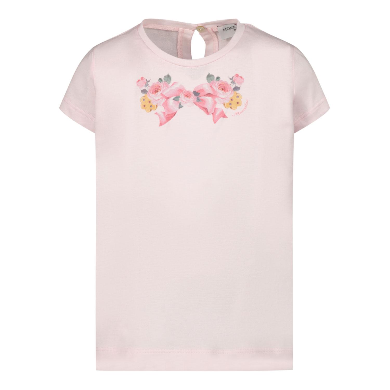 Afbeelding van MonnaLisa 398602S6 baby t-shirt licht roze