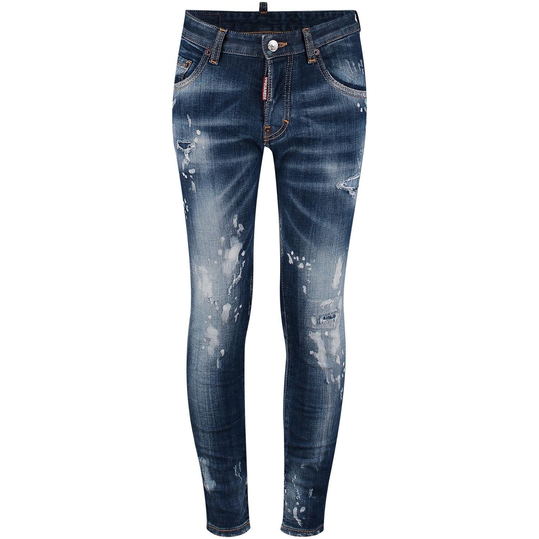 Afbeelding van Dsquared2 DQ021D D00SE kinderbroek jeans