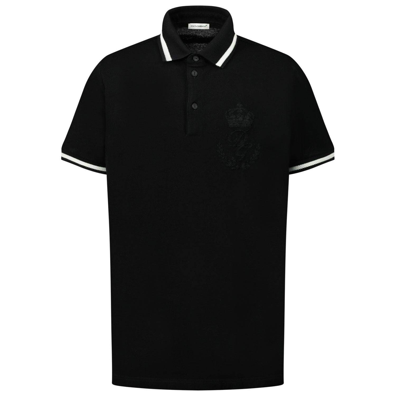 Afbeelding van Dolce & Gabbana L4JT8V / G7VED kinder polo zwart