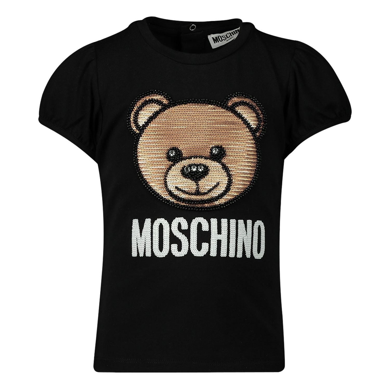 Afbeelding van Moschino MBM02B baby t-shirt zwart
