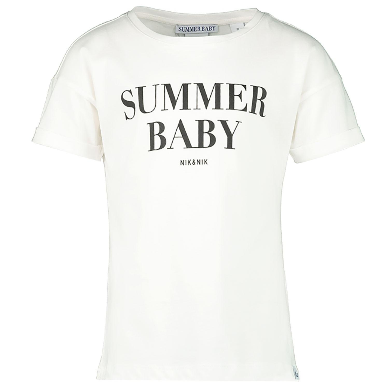 nik nik g8854 meisjes kinder t shirt off white bij coccinelle. Black Bedroom Furniture Sets. Home Design Ideas