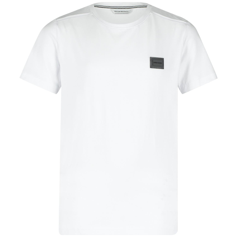 Picture of Antony Morato MKKS00396 kids t-shirt white