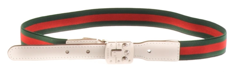Picture of Gucci 371935 kinderriem wit