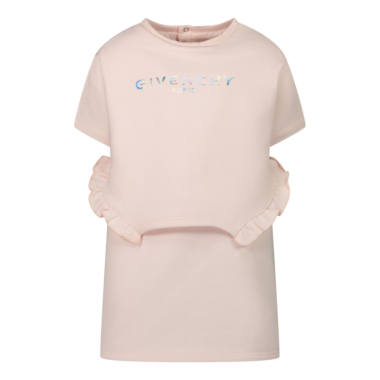Afbeelding van Givenchy H02069 babyjurkje licht roze