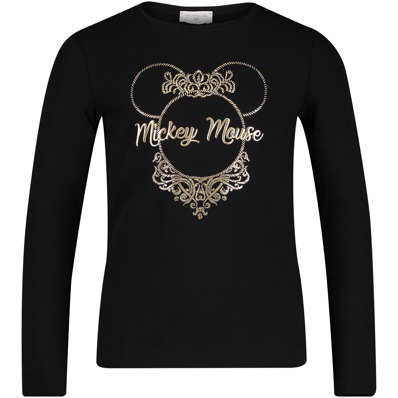 Afbeelding van MonnaLisa 112618SE kinder t-shirt zwart
