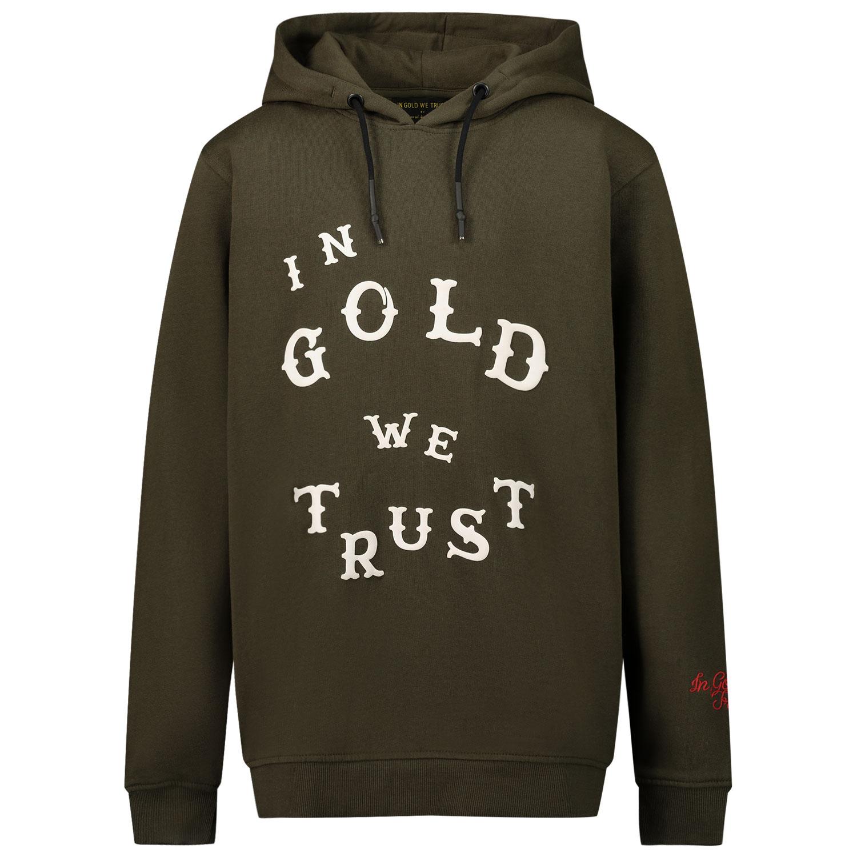 Afbeelding van in Gold We Trust WESTERN HOODIE kinder sweater groen