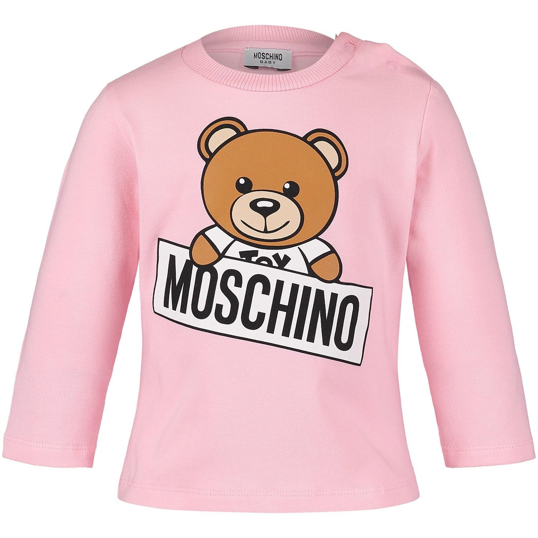 Afbeelding van Moschino M5M01L baby t-shirt roze