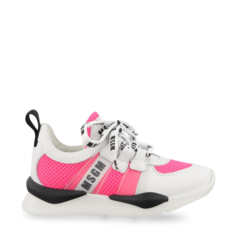 Afbeelding van MSGM 67274 kindersneakers fluor roze