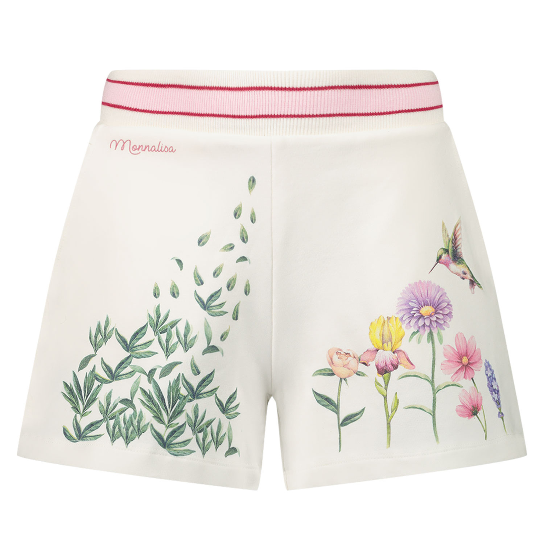 Afbeelding van MonnaLisa 197400S4 kinder shorts off white