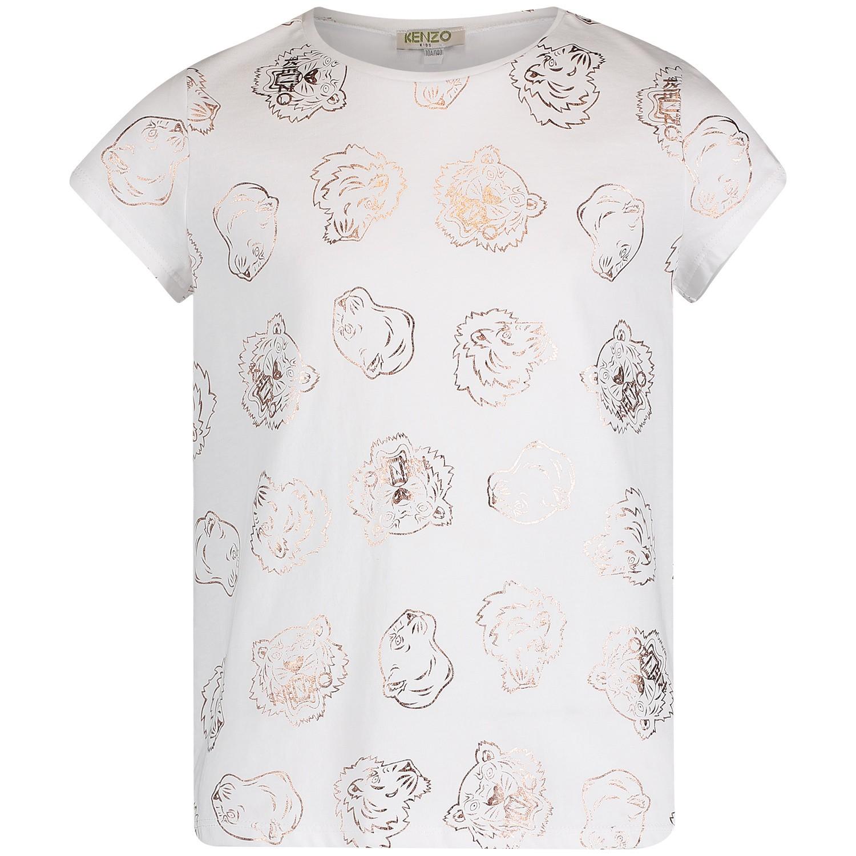 Afbeelding van Kenzo KN10228 kinder t-shirt wit