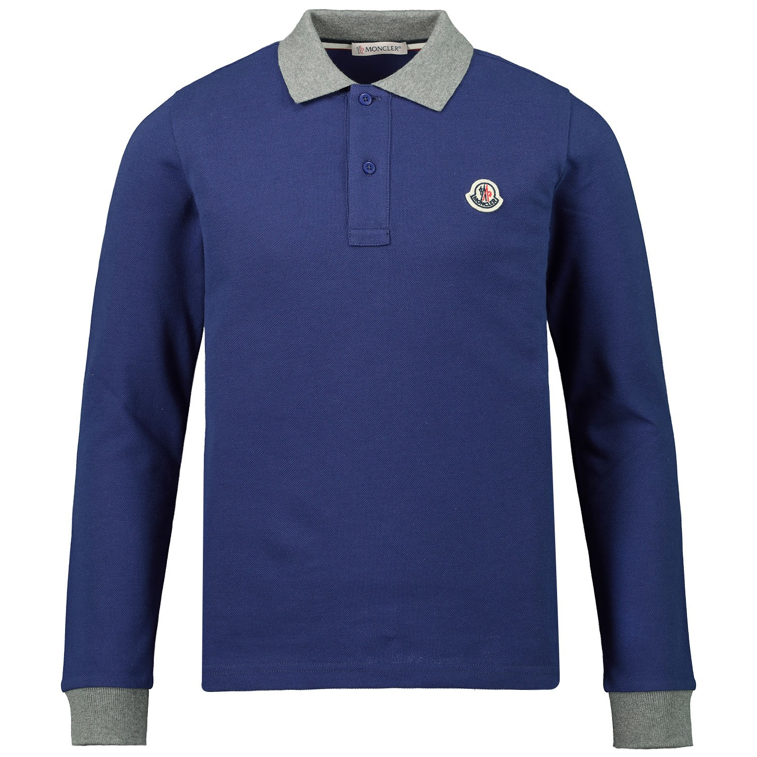buy popular 79f96 e1ca8 Moncler 8307750 kinder polo cobalt blauw