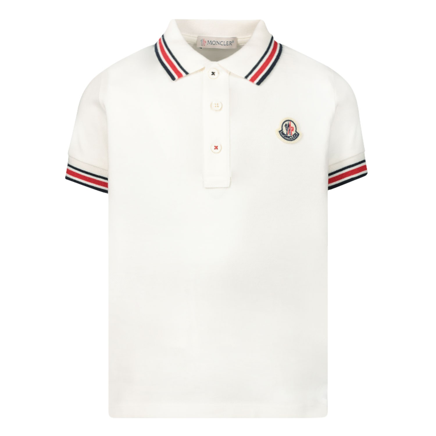 Afbeelding van Moncler 8A70320 baby polo wit