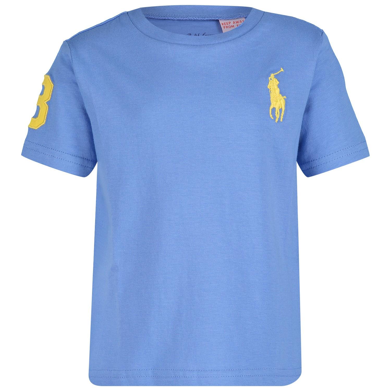 Afbeelding van Ralph Lauren 703646B baby t-shirt licht blauw