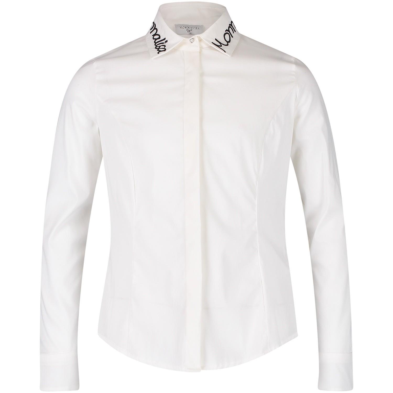 Afbeelding van MonnaLisa 172301R3 kinder overhemd off white