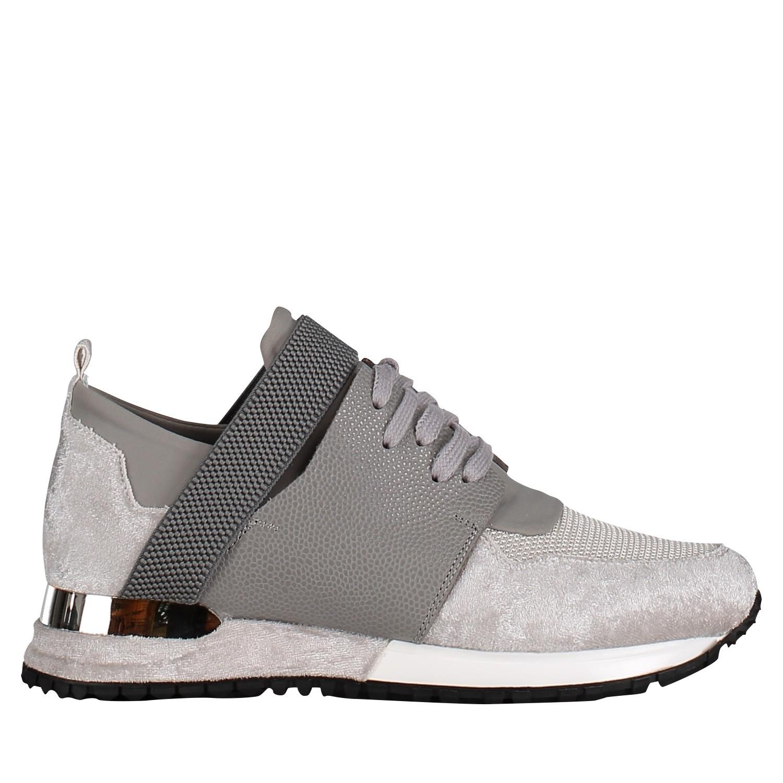 63d9b0f6399 Mallet Te1016Velvet dames dames sneakers grijs bij Coccinelle