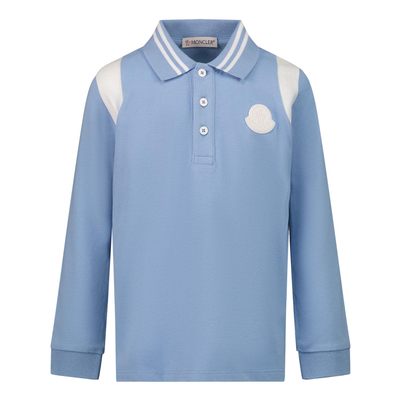 Afbeelding van Moncler 8B71120 baby polo licht blauw