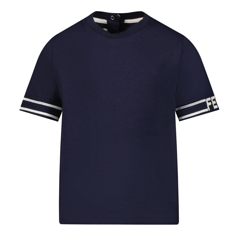 Afbeelding van Fendi BUI028 7AJ baby t-shirt navy