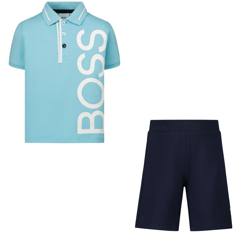 Afbeelding van Boss J08050 babysetje turquoise