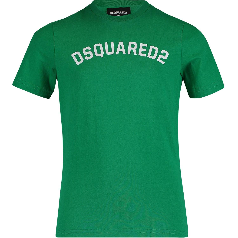 Afbeelding van Dsquared2 DQ039Y kinder t-shirt groen