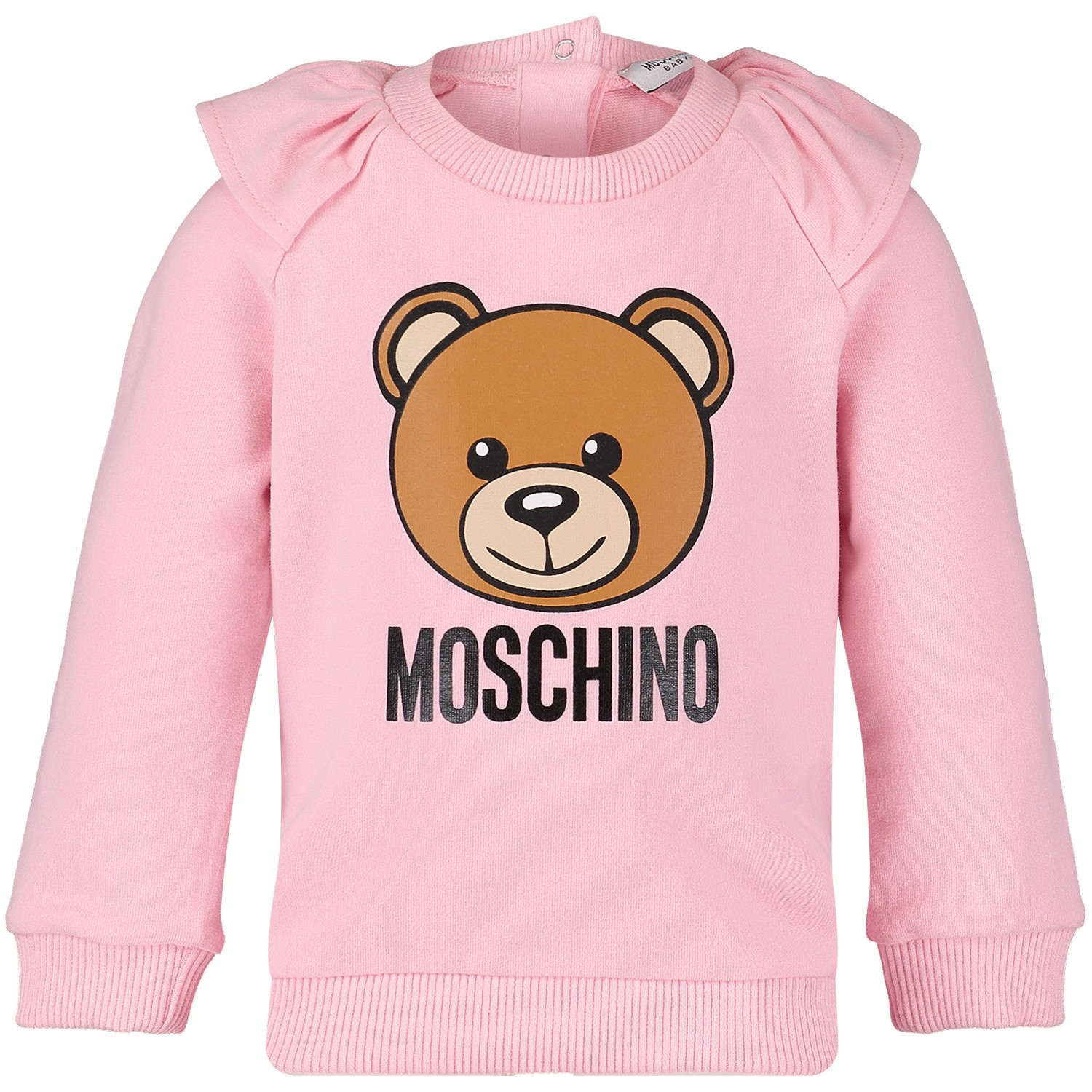Picture of Moschino MDF01K baby sweater light pink
