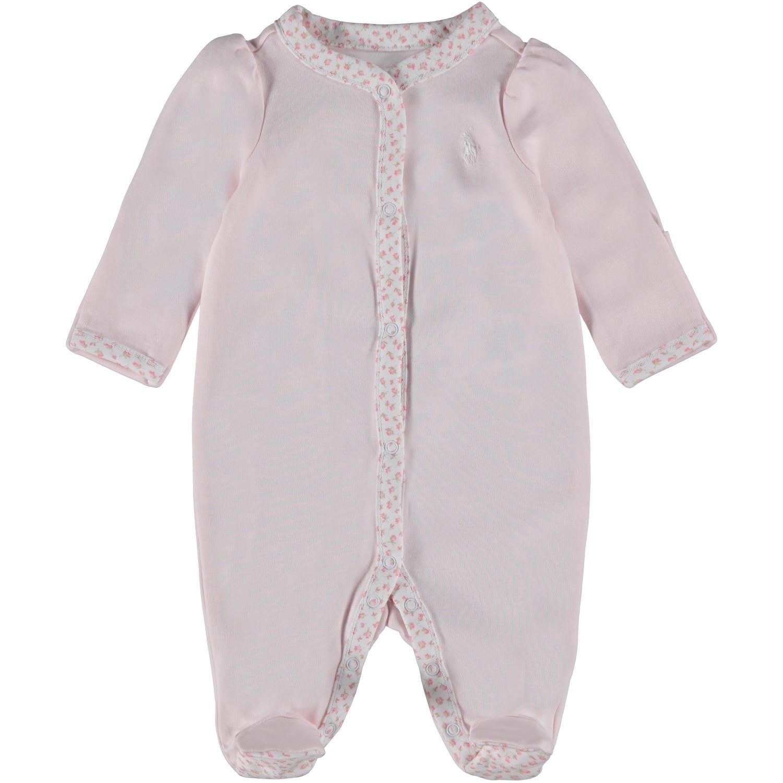 Picture of Ralph Lauren 552471 baby playsuit light pink