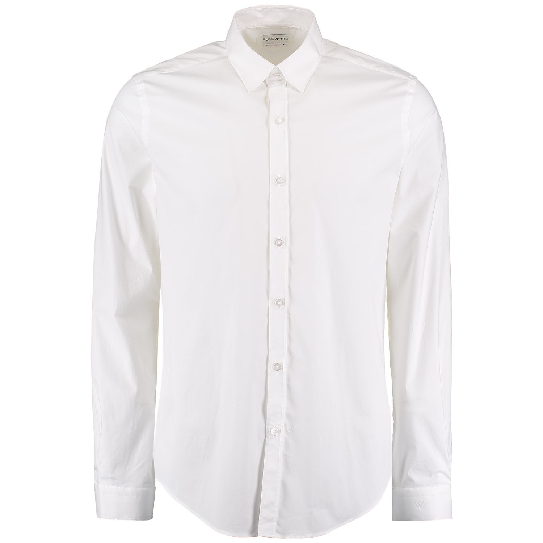 Afbeelding van Pure White 19010216 heren overhemd wit