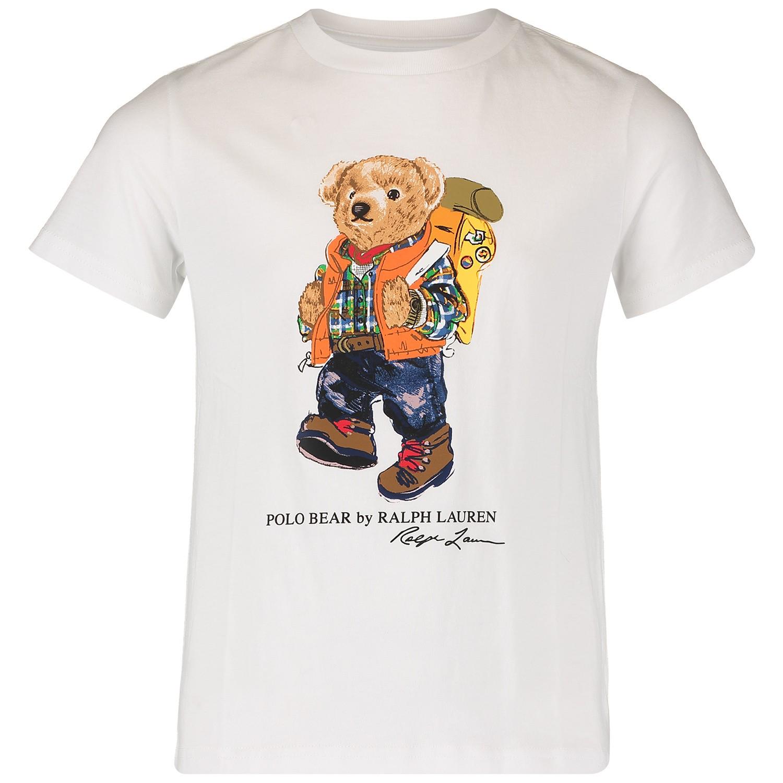 Afbeelding van Ralph Lauren 739049K kinder t-shirt wit