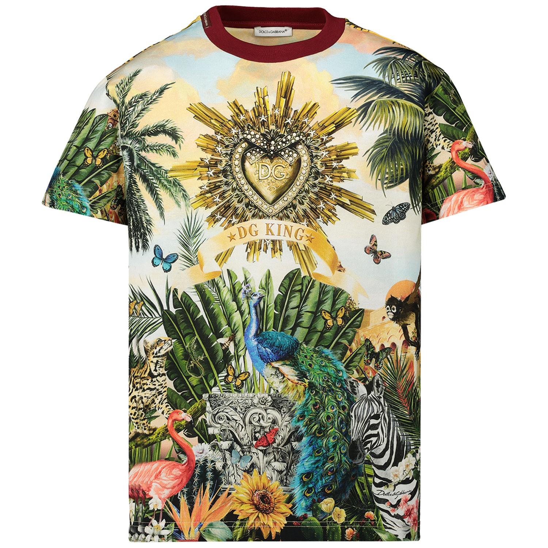 Afbeelding van Dolce & Gabbana L4JT7N G7SRL kinder t-shirt geel