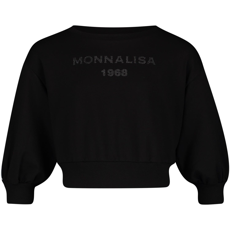 Afbeelding van MonnaLisa 173604AA kindertrui zwart
