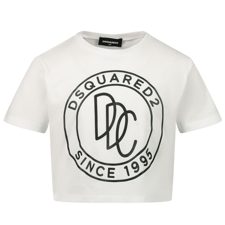 Afbeelding van Dsquared2 DQ0100 kinder t-shirt wit