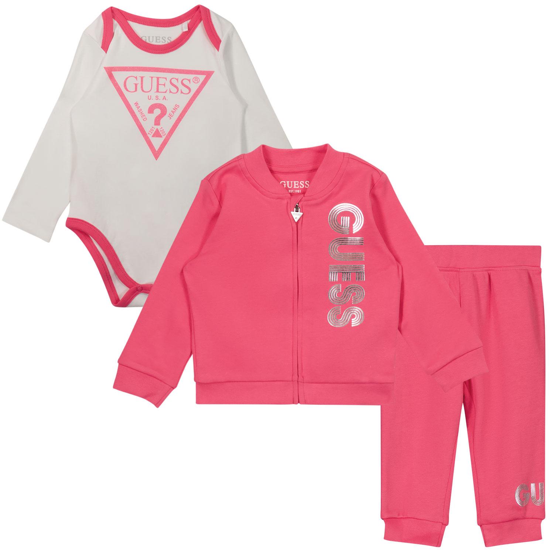 Afbeelding van Guess H1YW05 baby joggingpak fuchsia
