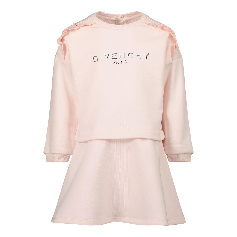 Afbeelding van Givenchy H02076 babyjurkje licht roze