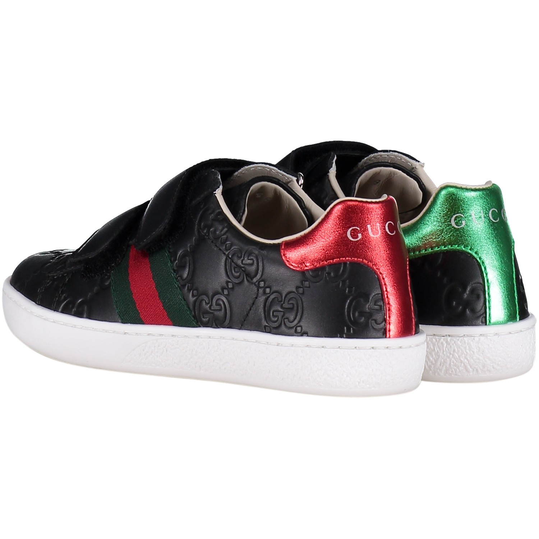 9222aef94b5 Gucci 455448 Df720 unisex junior kindersneakers zwart bij Coccinelle