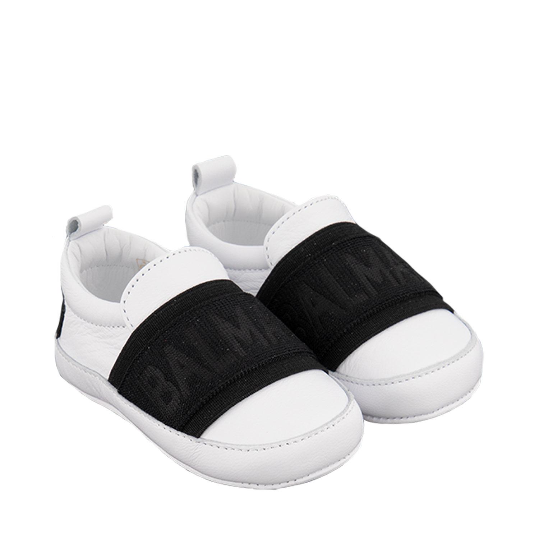 Afbeelding van Balmain 6P0A56 babyschoenen wit