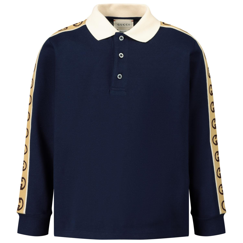 Afbeelding van Gucci 616953 kinder polo navy