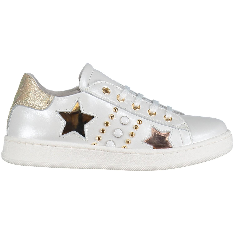 Afbeelding van Coccinelle 6210 kindersneakers wit