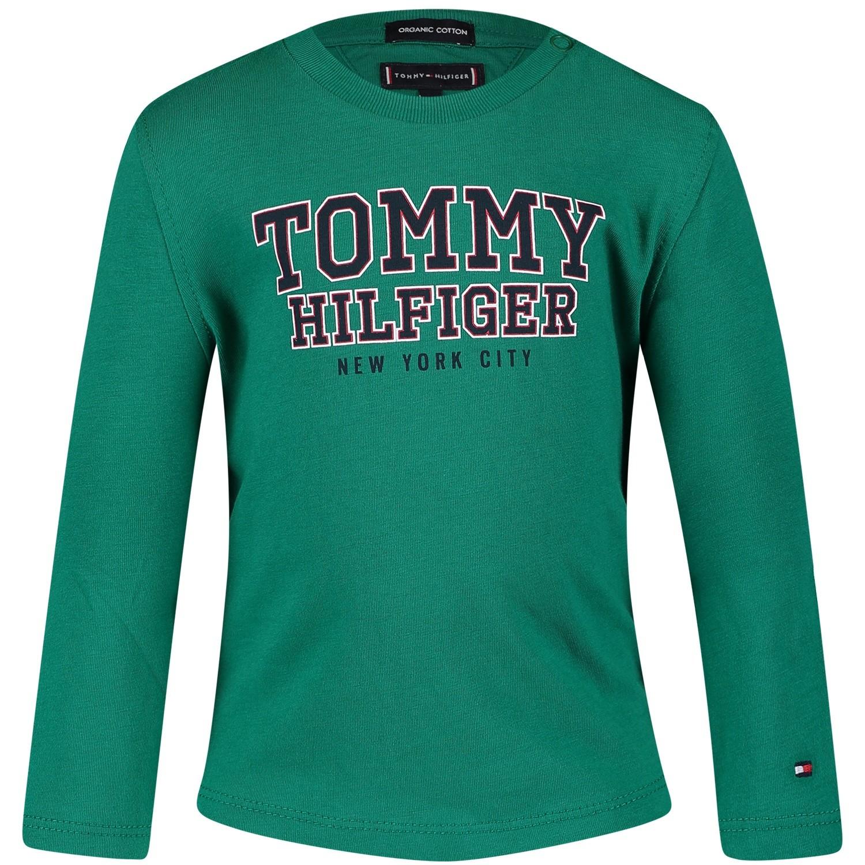 Afbeelding van Tommy Hilfiger KB0KB04297B baby t-shirt groen