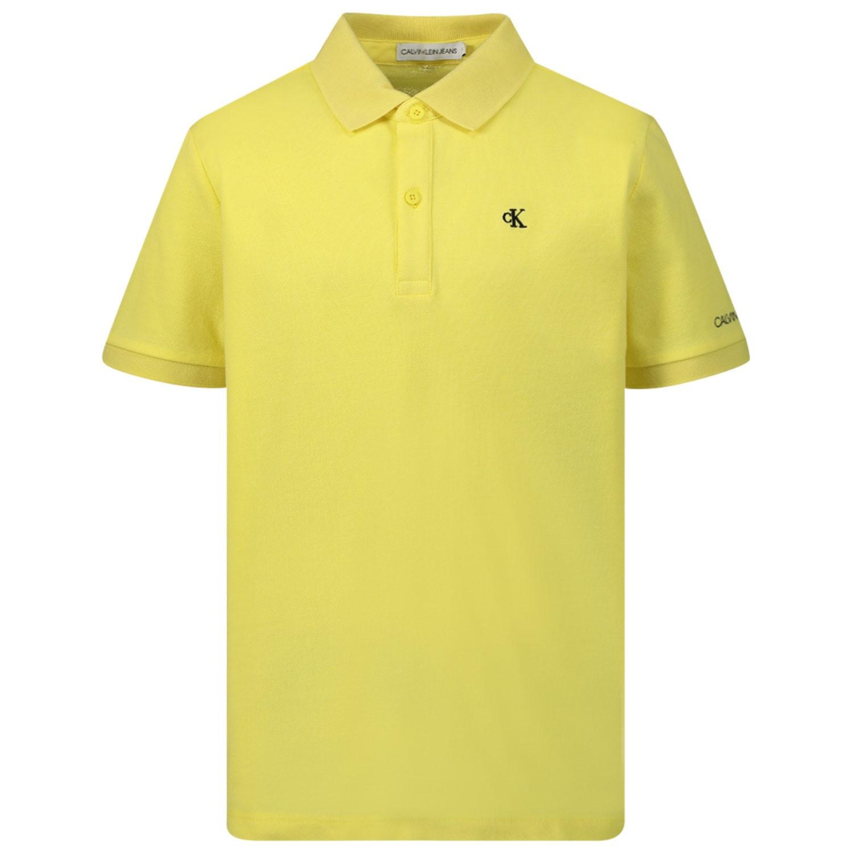 Afbeelding van Calvin Klein IB0IB00376 kinder polo geel