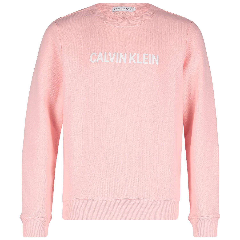 Afbeelding van Calvin Klein IG0IG00102 kindertrui licht roze