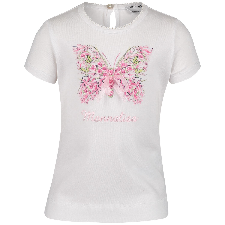 Afbeelding van MonnaLisa 393610SI baby t-shirt wit