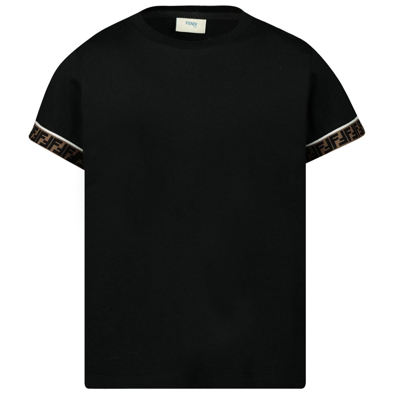 Afbeelding van Fendi JUI018 kinder t-shirt zwart