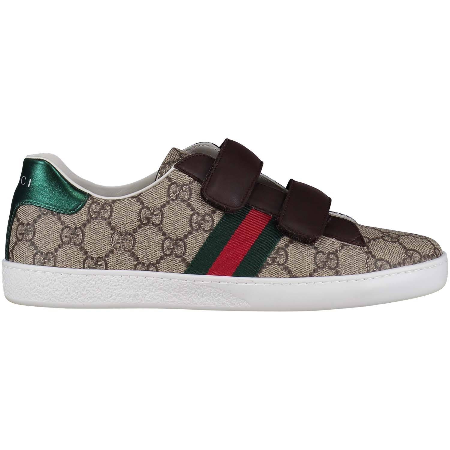 Picture of Gucci 463091 kids sneaker beige