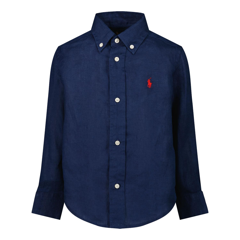 Afbeelding van Ralph Lauren 832109 kinder overhemd navy