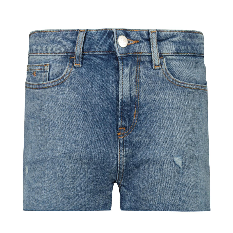Afbeelding van Calvin Klein IG0IG00973 kinder shorts jeans