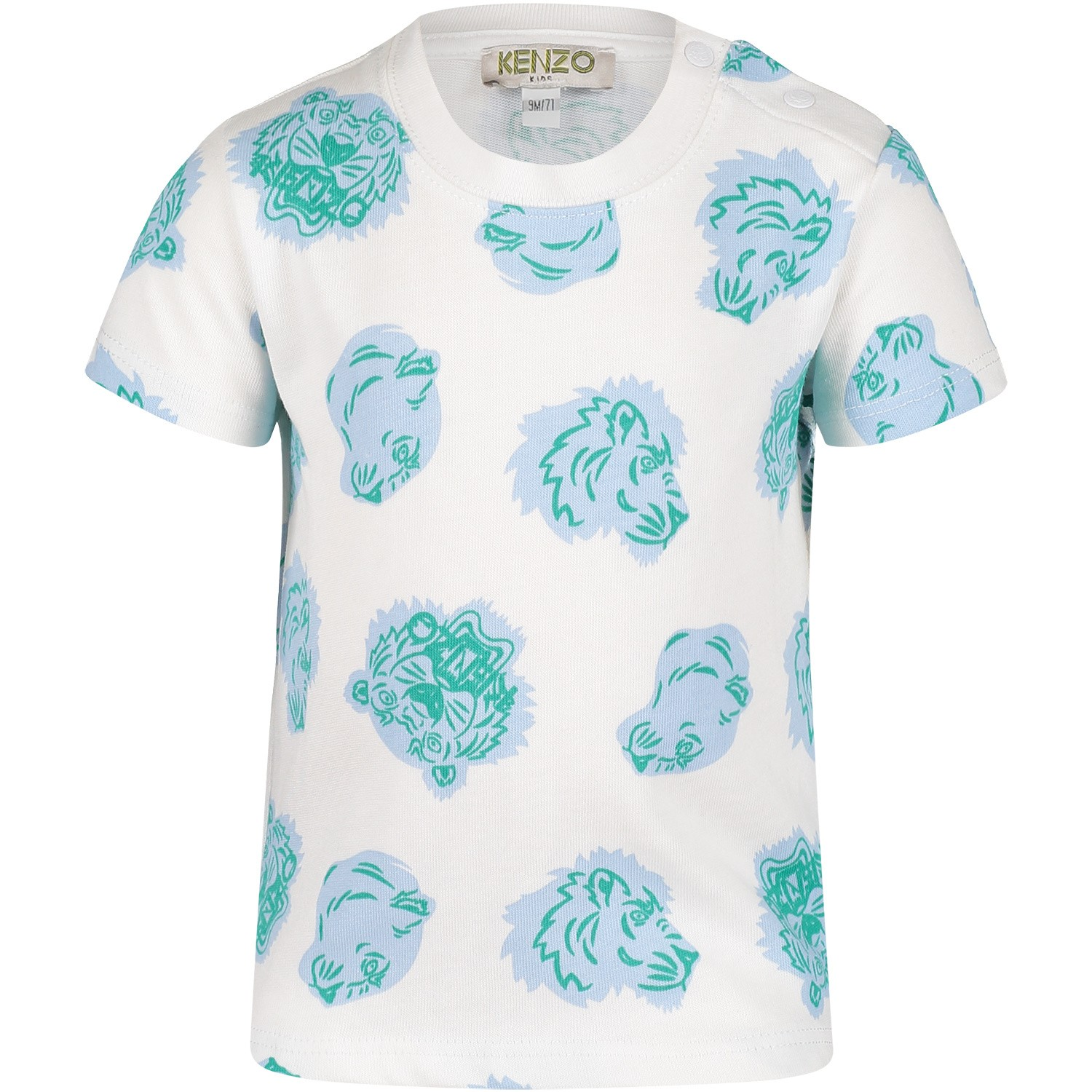 Picture of Kenzo KN10718BB baby shirt white