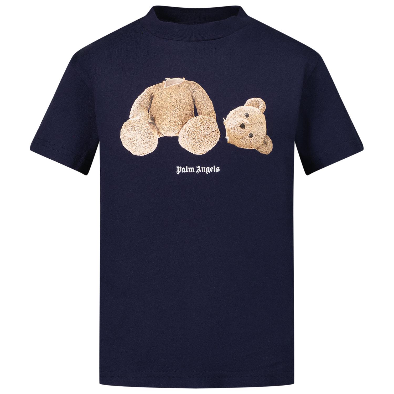 Afbeelding van Palm Angels PBAA001F21JER001 kinder t-shirt navy