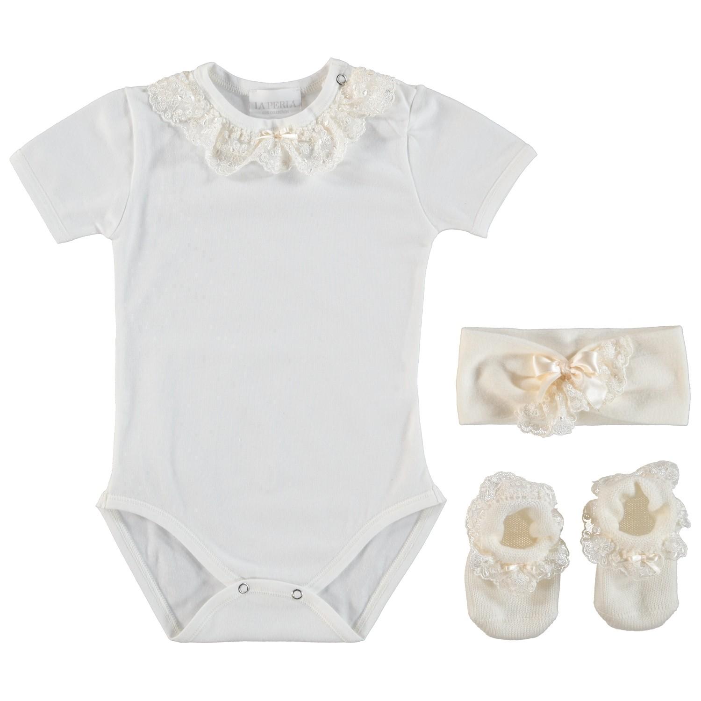Afbeelding van La Perla 48515 babysetje off white