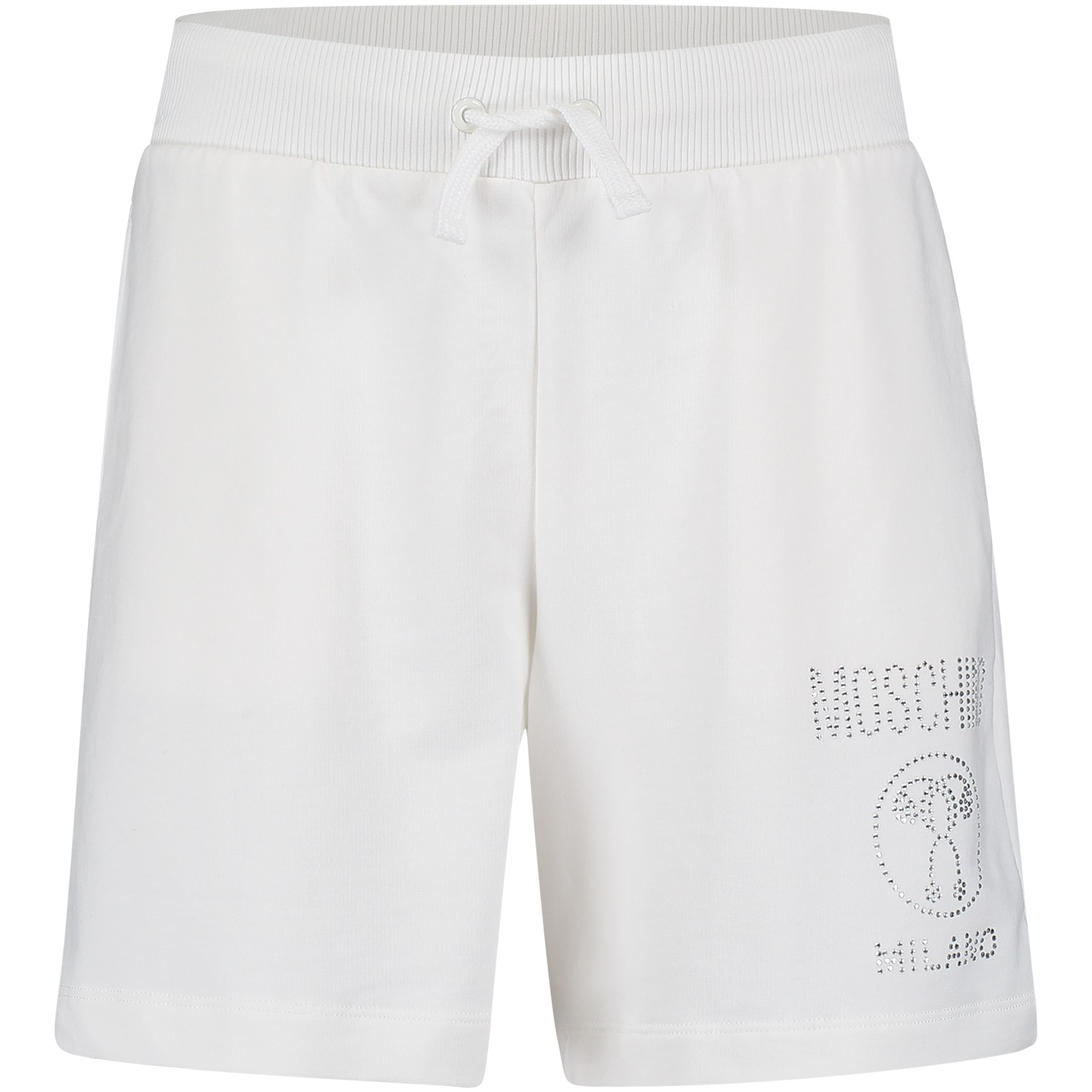 moschino hdp02o meisjes kinder shorts off white bij coccinelle. Black Bedroom Furniture Sets. Home Design Ideas
